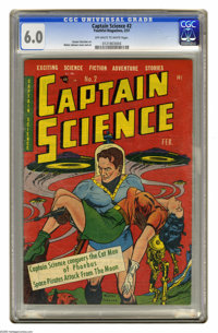 Captain Science #2 (Youthful Magazines, 1951) CGC FN 6.0 Off-white to white pages. Walter Johnson cover and art. Gustav...