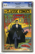 Golden Age (1938-1955):Classics Illustrated, Classic Comics #3 Count of Monte Cristo HRN 28 (Gilberton, 1942) CGC VF 8.0 Light tan to off-white pages. New banner logo. R...