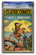 Golden Age (1938-1955):Classics Illustrated, Classic Comics #4 Last of the Mohicans HRN 28 (Gilberton, 1942) CGC VF/NM 9.0 Light tan to off-white pages. New banner logo....