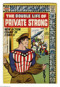 Silver Age (1956-1969):Superhero, The Double Life of Private Strong #1 (Archie, 1959) Condition: FN-. Simon and Kirby art. Cover vignettes by Kirby. First app...