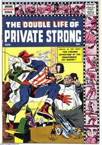 The Double Life of Private Strong #2 (Archie, 1959) Condition: FN. Last issue. Art by Joe Simon and Jack Kirby, George T...