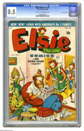 Golden Age (1938-1955):Humor, Elsie the Cow (Canadian Edition) #1 (Bell Features, 1949) CGC VF+ 8.5 Cream to off-white pages. The Canadian comic is not li...