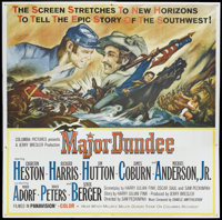 "Major Dundee (Columbia, 1965). Six Sheet (81"" X 81""). Western"