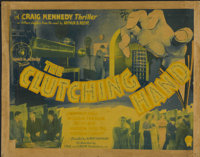 "The Clutching Hand (Stage and Screen Productions, 1936). Half Sheet (22"" X 28""). Serial"