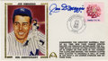 Autographs:Letters, Joe DiMaggio Signed First Day Cover. The Yankee Clipper hasdeposited a neat blue sharpie signature to the first day cover ...