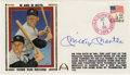Autographs:Letters, Mickey Mantle Signed First Day Cover. Dated 1986, this fantasticfirst day cover commemorates the 25th anniversary of thril...