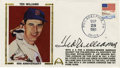 Autographs:Letters, Ted Williams Signed First Day Cover. Absolutely booming signaturefrom the mighty Ted Williams has made its way to the firs...