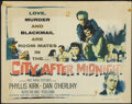 "Movie Posters:Mystery, City After Midnight (RKO, 1959). Half Sheet (22"" X 28"").Mystery...."
