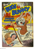 "Golden Age (1938-1955):Funny Animal, Four Color #164 ""Bugs Bunny Finds the Frozen Kingdom"" (Dell, 1947)Condition: Qualified VF-. Extra staple added by owner. Ov..."
