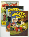 Golden Age (1938-1955):Cartoon Character, Four Color Mickey Mouse Group (Dell, 1946-49) Condition: AverageVG+. This five-issue group lot includes #116 (Mickey Mouse ... (5Comic Books)