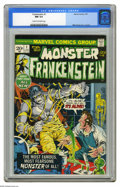 Bronze Age (1970-1979):Horror, Frankenstein #1 (Marvel, 1973) CGC NM 9.4 Cream to off-white pages.Mike Ploog cover and art. Overstreet 2005 NM- 9.2 value ...