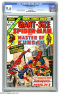 Bronze Age (1970-1979):Superhero, Giant-Size Spider-Man #2 (Marvel, 1974) CGC NM+ 9.6 White pages.Master of Kung Fu crossover. Overstreet 2005 NM- 9.2 va...