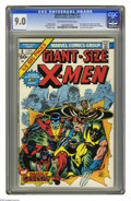 Bronze Age (1970-1979):Superhero, Giant-Size X-Men #1 (Marvel, 1975) CGC VF/NM 9.0 Off-white to whitepages. Many Giant-Size Marvel books hit in the mid-seven...