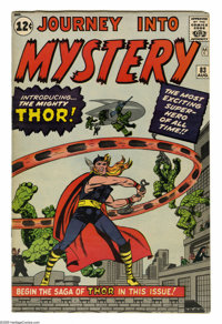 Journey Into Mystery #83 (Marvel, 1962) Condition: VG. Thor and his alter ego of Dr. Don Blake debut in this issue, whic...