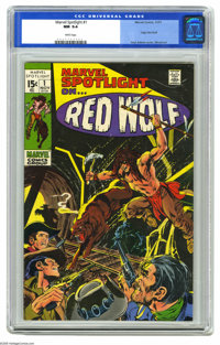 Marvel Spotlight #1 (Marvel, 1971) CGC NM 9.4 White pages. Origin of Red Wolf. Neal Adams cover. Syd Shores and Wally Wo...