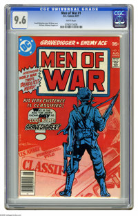 Men of War #1 (DC, 1977) CGC NM+ 9.6 White pages. Enemy Ace and Gravedigger begin. Ed Davis cover and art. This is curre...