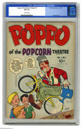 Golden Age (1938-1955):Humor, Poppo of the Popcorn Theatre #1 (Fuller Publishing, 1955) CGC FN-5.5 Off-white pages. Charles Biro cover and art. This is c...