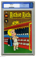 Silver Age (1956-1969):Cartoon Character, Richie Rich #57 (Harvey, 1967) CGC VF+ 8.5 Off-white pages. 1967calendar inside. Overstreet 2005 VF 8.0 value = $40; VF/NM ...