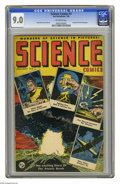 Golden Age (1938-1955):Science Fiction, Science Comics #1 (Humor Publications, 1946) CGC VF/NM 9.0Off-white pages. Atom Bomb cover. Rudy Palais cover and art.Over...