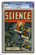 Golden Age (1938-1955):Science Fiction, Science Comics #3 (Humor Publications, 1946) CGC NM 9.4 Off-whitepages. Rudy Palais cover. Palais and Al Feldstein art. Thi...