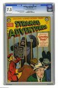 Golden Age (1938-1955):Science Fiction, Strange Adventures #8 (DC, 1951) CGC VF- 7.5 Cream to off-whitepages. Gorilla cover by Win Mortimer. Murphy Anderson, Gil K...