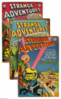 Golden Age (1938-1955):Science Fiction, Strange Adventures Group (DC, 1953-54) Condition: Average VG.Fourteen-issue group lot includes #31, 32, 33, 35, 36, 37, 38,...(14 Comic Books)
