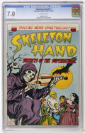 Golden Age (1938-1955):Horror, Skeleton Hand #1 (ACG, 1952) CGC FN/VF 7.0 Off-white pages....