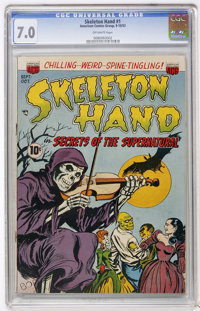 Skeleton Hand #1 (ACG, 1952) CGC FN/VF 7.0 Off-white pages