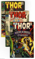 Silver Age (1956-1969):Superhero, Thor Group (Marvel, 1967-69) Condition: Average VG/FN. Twenty six-issue lot includes #136, 138, 145, 147 (origin of the Inhu... (26 Comic Books)