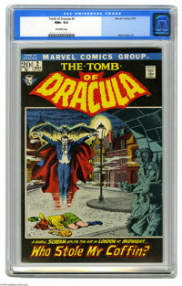 Tomb of Dracula #2 (Marvel, 1972) CGC NM+ 9.6 Off-white pages. John Severin cover. Gene Colan art. This is currently the...