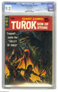 Silver Age (1956-1969):Adventure, Turok, Son of Stone Giant #1 File Copy (Gold Key, 1966) CGC NM- 9.2 Off-white pages. Slick cover. (Paper cover variations ex...