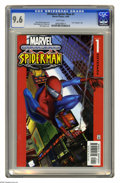 Modern Age (1980-Present):Superhero, Ultimate Spider-Man #1 (Marvel, 2000) CGC NM+ 9.6 White pages.Introduces revised origin and cast separate from regular Spid...