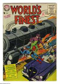 World's Finest Comics #80 (DC, 1956) Condition: VG. Win Mortimer cover. Dick Sprang and Fred Ray art. Overstreet 2005 VG...