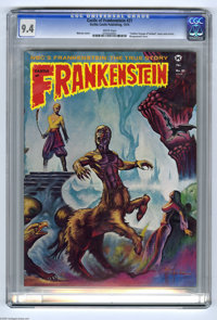 "Castle of Frankenstein #21 (Gothic Castle Printing, 1974) CGC NM 9.4 White pages. ""Golden Voyage of Sinbad"" co..."