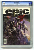 Magazines:Science-Fiction, Epic Illustrated #1 (Marvel, 1980) CGC NM 9.4 White pages.Metamorphosis Odyssey begins. Silver Surfer and Galactus story.F...