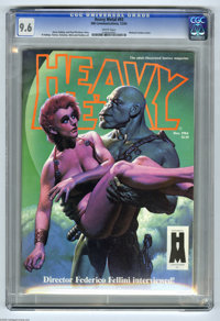 Heavy Metal V8#9 (HM Communications, 1984) CGC NM+ 9.6 White pages. Richard Corben cover. Boris Vallejo and Angelo Torre...