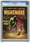 Magazines:Horror, Nightmare #10 (Skywald, 1972) CGC NM 9.4 White pages. Human Gargoyles series continued from Psycho #8. Basil Wolverton b...