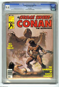 Magazines:Superhero, Savage Sword of Conan #12 (Marvel, 1976) CGC NM 9.4 White pages.Boris Vallejo cover. Tim Conrad frontispiece. John Buscema,...