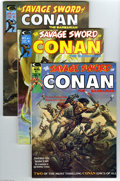 Magazines:Miscellaneous, Savage Sword of Conan Group (Marvel, 1974-77) Condition: AverageVF+. Eleven-issue lot includes #1 (first magazine appearanc... (11Comic Books)