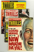Magazines:Miscellaneous, Screen Thrills Illustrated Group (Warren, 1962-64) Condition:Average VF-. Nine-issue lot includes #1, 2, 3, 4, 5, 6, 7, 8, ...(9 Comic Books)