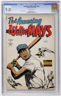 The Amazing Willie Mays #nn (Famous Funnies, 1954) CGC VF/NM 9.0 Off-white pages