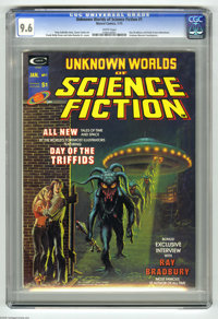 Unknown Worlds of Science Fiction #1 (Marvel, 1975) CGC NM+ 9.6 White pages. Kelly Freas and John Romita Sr. cover. Fran...