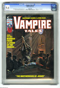 Magazines:Horror, Vampire Tales #11 (Marvel, 1975) CGC NM+ 9.6 White pages. Morbius cover and story. Last issue. Richard Hescox cover. Sonny T...
