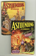 Golden Age (1938-1955):Science Fiction, Astounding Stories Group (Street & Smith, 1933) Condition:Average VG. This lot consists of the November (V12#3) andDecembe... (2 Comic Books)