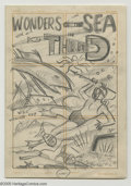 Original Comic Art:Miscellaneous, Al Avison (attributed) - Wonders of the Sea in Three D PreliminaryCover Sketch Original Art (Harvey, undated). Here is a pe...
