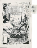 Original Comic Art:Miscellaneous, Dave Cockrum - Blackhawk #254 Cover Stat (DC, 1983). To save a cityBlackhawk must die! Dave Cockrum sets his sights high on...