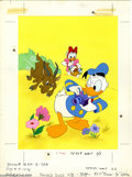 """Original Comic Art:Covers, Western Publishing Artist - Donald Duck Coloring Book CoverOriginal Art (Whitman, undated). Donald Duck is about to get a """"..."""