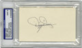 Autographs:Index Cards, Dizzy Dean Signed Index Card, PSA Mint 9. A near flawlessapplication of the accomplished Hall of Fame St. Louis Cardinals...