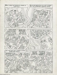 Jack Kirby - Unpublished Stuntman, Page 7 Original Art Panel Page (Harvey, undated). Some rascal is spoiling all the bes...