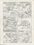 Original Comic Art:Panel Pages, Jack Kirby - Unpublished Stuntman, Page 10 Original Art Panel Page(Harvey, undated). Stuntman takes to the jungle to save S...